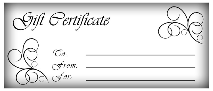 blank gift certificates templates free – Create a Gift Certificate Template